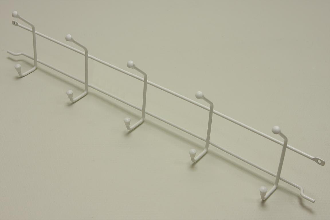 Вешалка с крючками (стеллаж-стена) 52 см