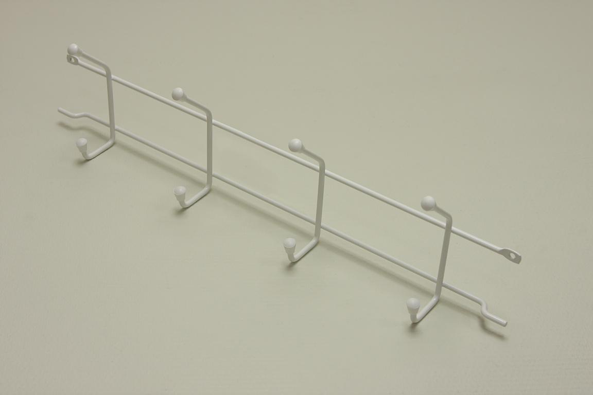 Вешалка с крючками (стеллаж-стена) 44 см (Мини)
