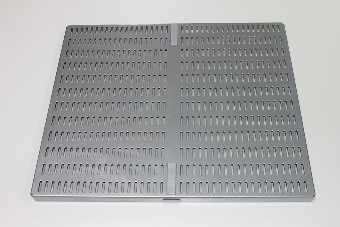 Перфорированная панель для направляющей 45 x 38 см, платина
