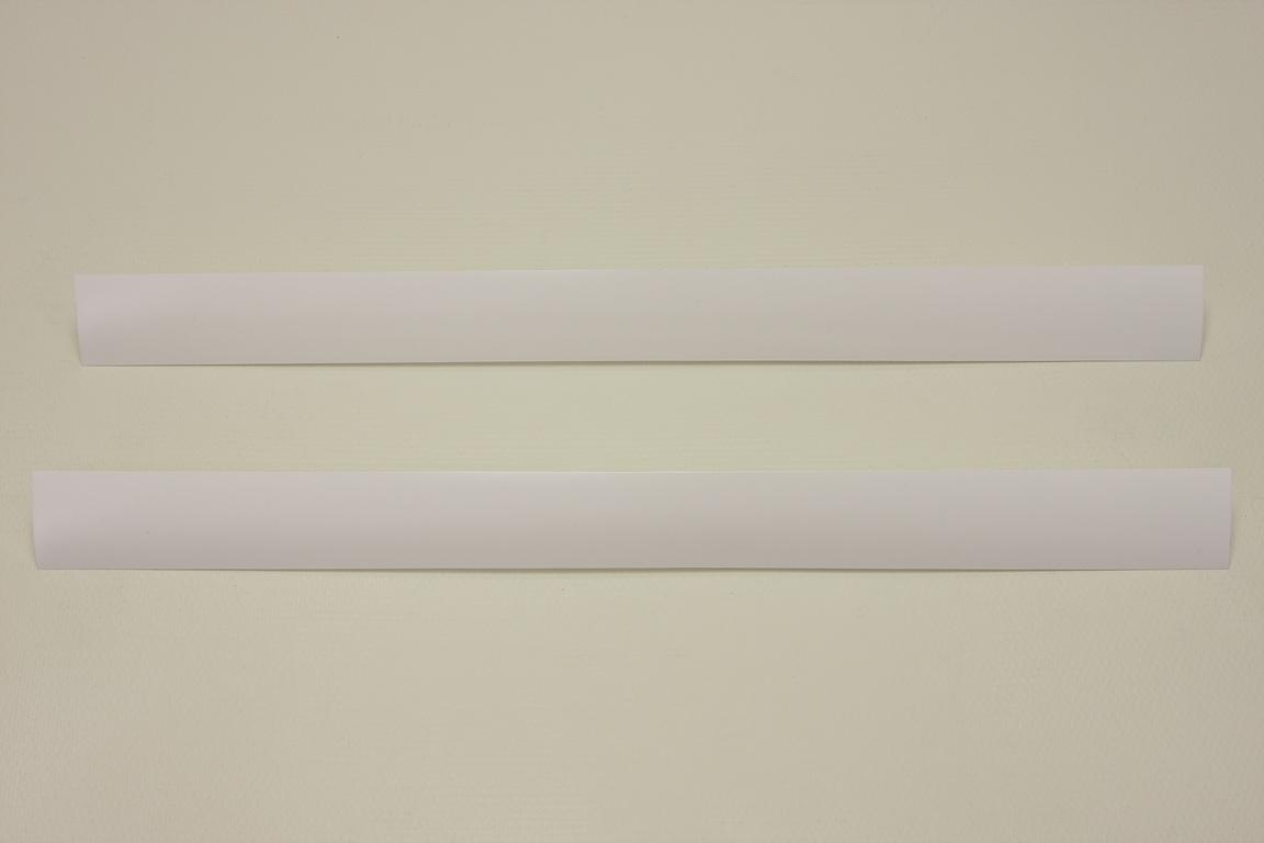 Декоративная вставка в рельс, 45 см, белая (2 шт/уп)