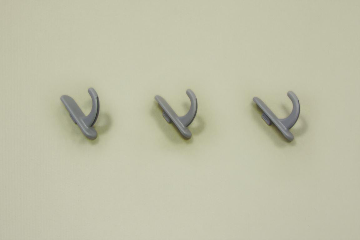 Крючок круглый для перфорированной панели (3шт/уп), серый