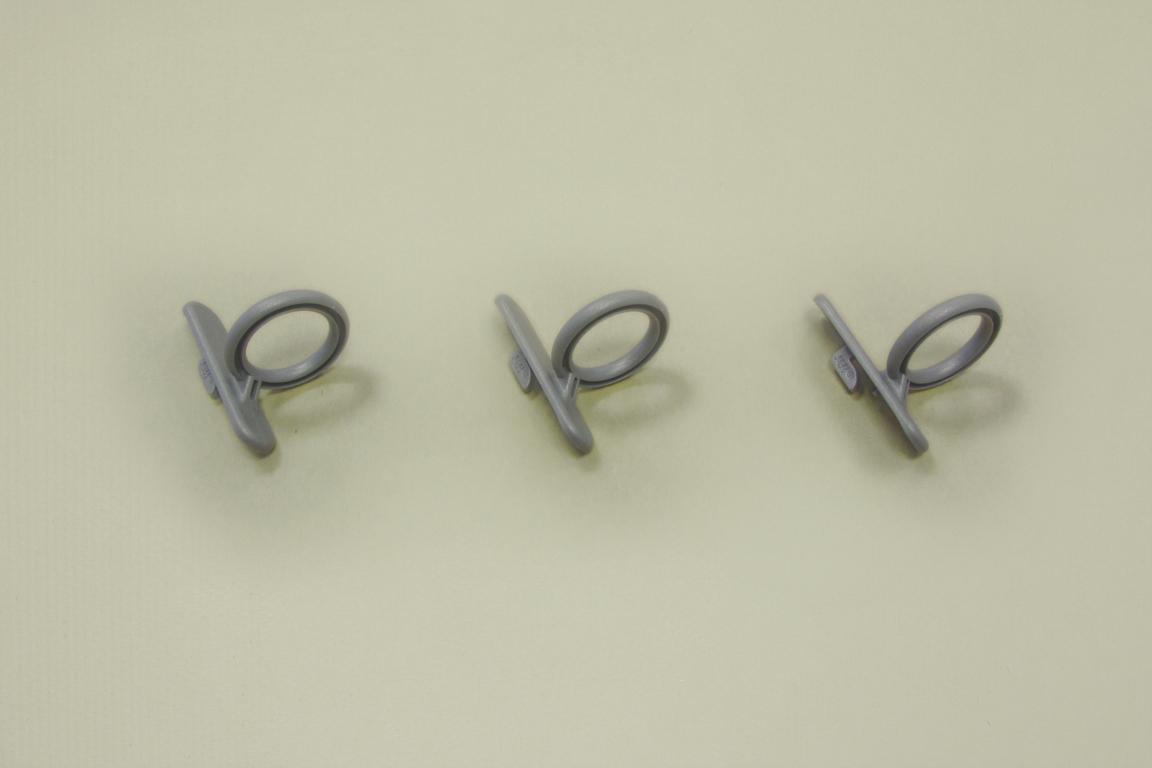 Крючок кольцевой для перфорированной панели (3шт/уп), серый