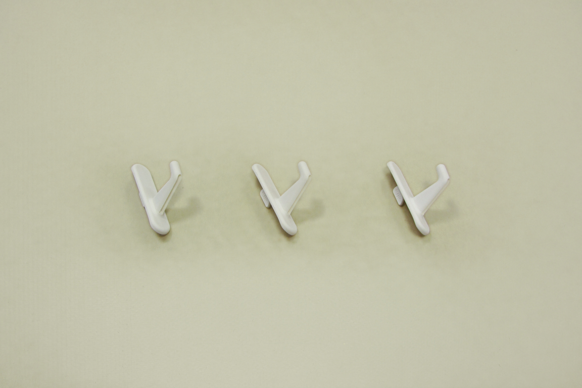 Крючок короткий для перфорированной панели (3шт/уп), белый