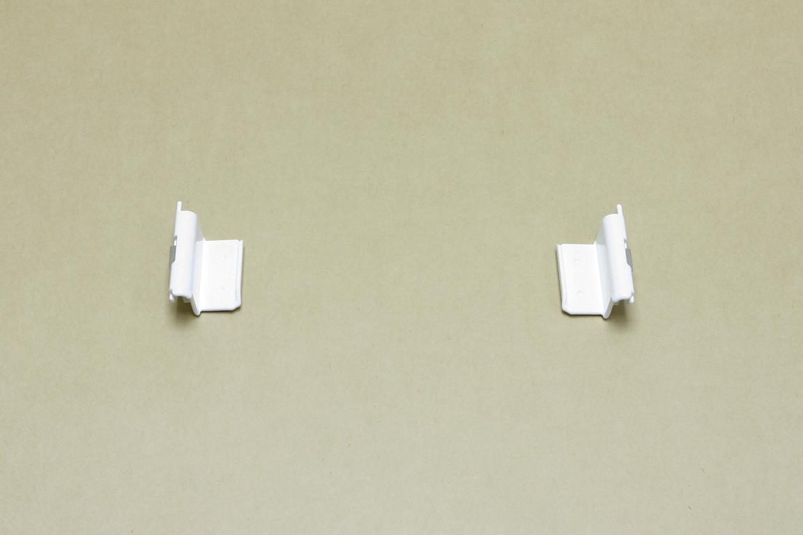 Крепеж рельса к направляющим, 2 шт/уп, белый