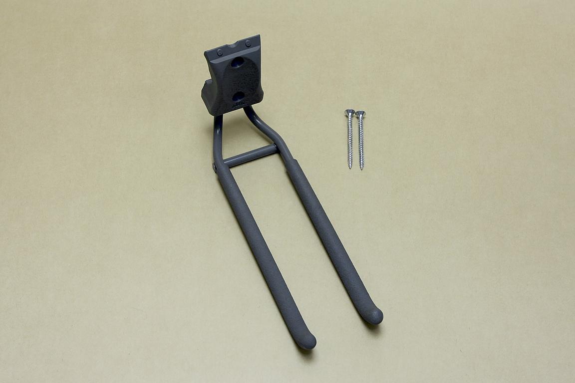 Двойной прямой крючок (рельс-стена), серый