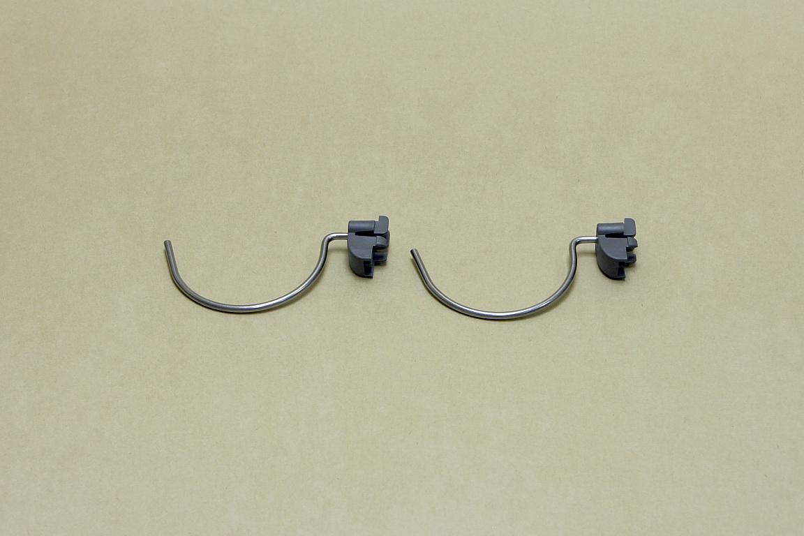 Большой круглый крючок (перф. панель), 2 шт/уп, серый