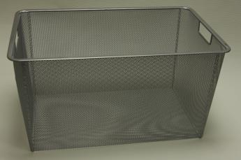 Корзина на 3 рельса, шир. 35 см, Mesh, платина