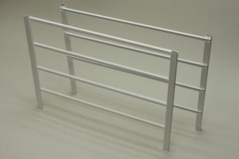 Боковина стеллажа на 4 рельс. выс.44 см, гл. 54 см, белый