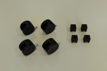 Колеса для стеллажа, черные
