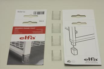 Ножки для стелажа, ELFA прозрачные