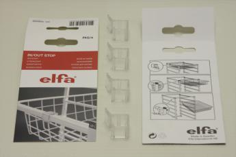 Стопор универсальный для корзин ELFA, прозрачный