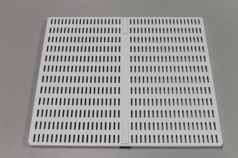 Перфорированная панель для направляющей 45 x 38 см, белый