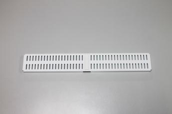 Перфорированная панель для направляющей 45 x 6 см, белый