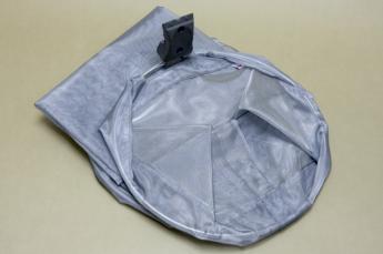 Сетчатый мешок для спортинвентаря (рельс-стена), серый