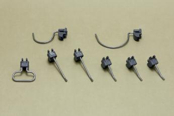 Набор крючков (перф. панель), 8 шт/уп, серый