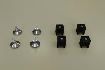 Ножки для стеллажа, регулируемые 4шт/уп, черн.